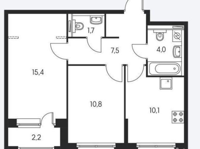 Продажа 2х к. квартиры Суздальское шоссе, 2 - фото 1 из 4