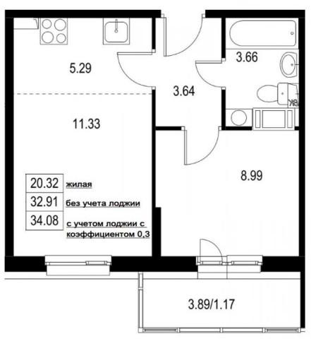 Продажа 2х к. квартиры пр-кт Ветеранов, 167 - фото 1 из 3