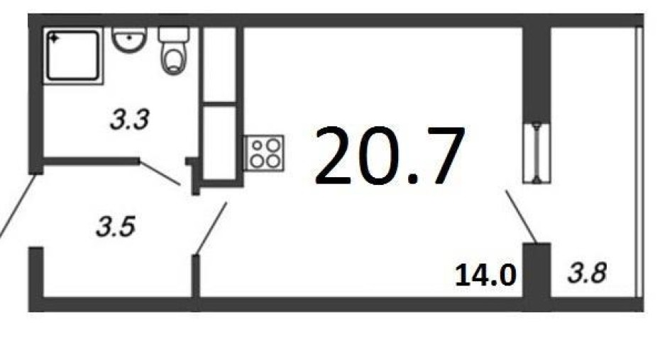 Продажа 1 к. квартиры ул. Крыленко, 2 - фото 1 из 4