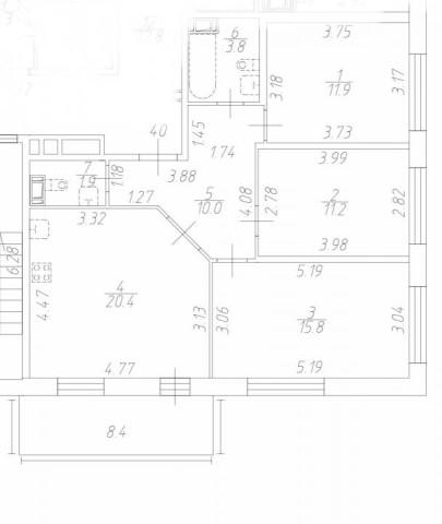 Продажа 3х к. квартиры наб. Матисова канала - фото 4 из 6